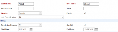 Office Visit Billing Template example screenshot – entering more information