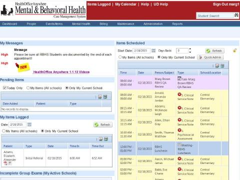 Mental & Behavioral Health Dashboard screenshot